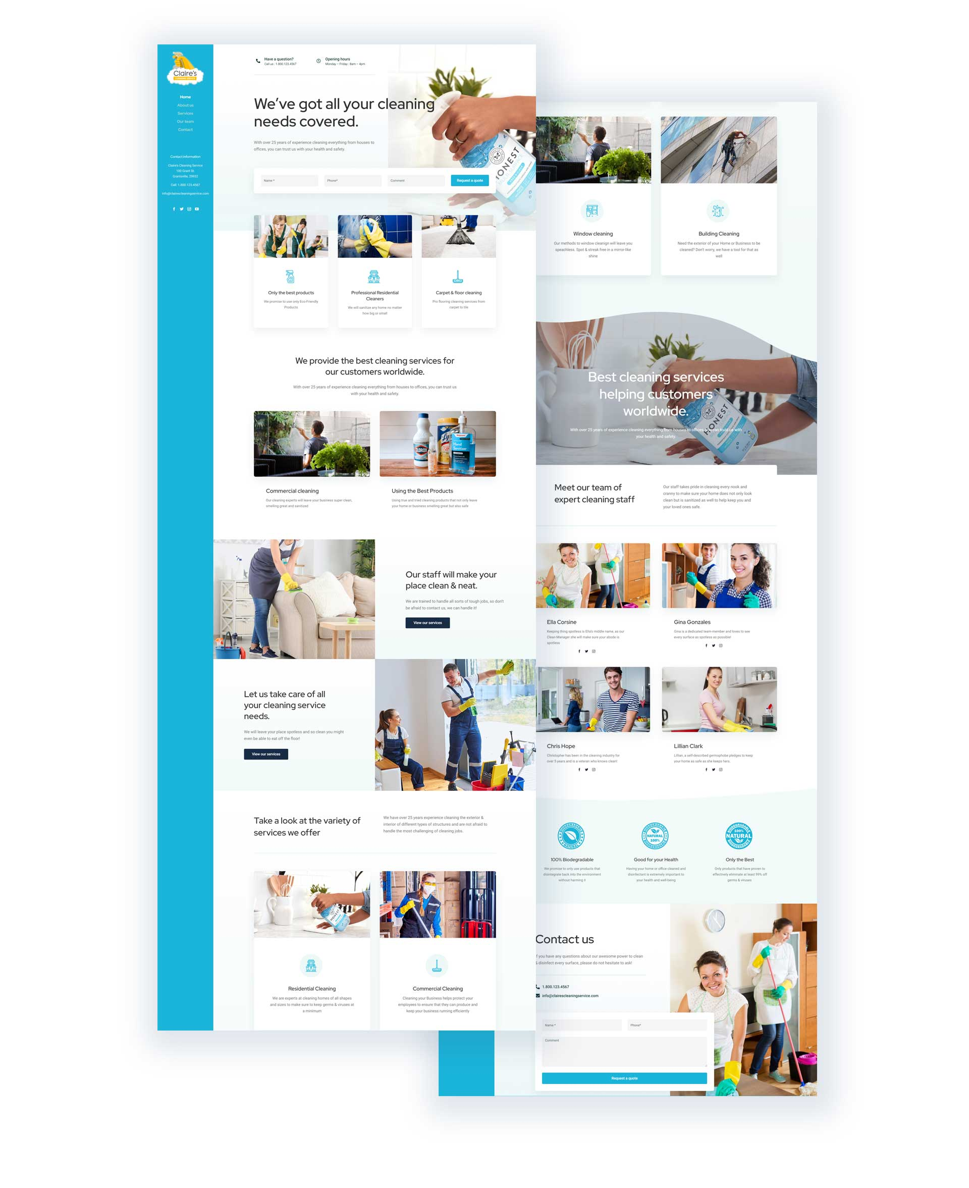 Claire's Cleaning Service Website Design