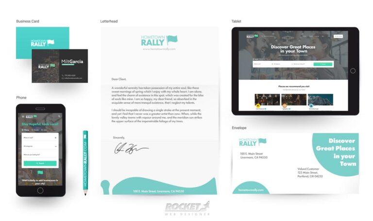 Website & Logo Design Branding HometownRally